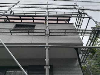 ベランダ屋根パネル交換完了