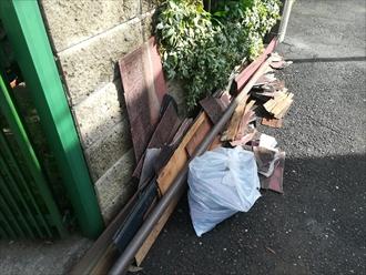 スレート材の残骸