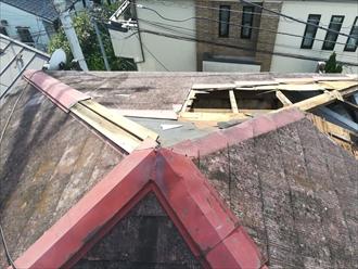 屋根下地からの剥がれ
