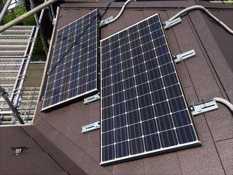 ソーラーパネル取付け完了
