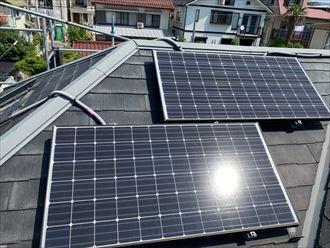 屋根カバー工事でソーラーパネル撤去