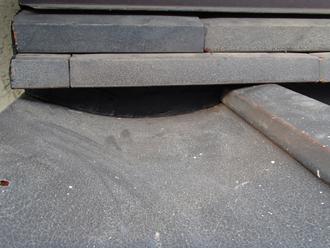 鎌倉市長谷で屋根の漆喰の劣化から漆喰詰め直しと棟取り直し工事