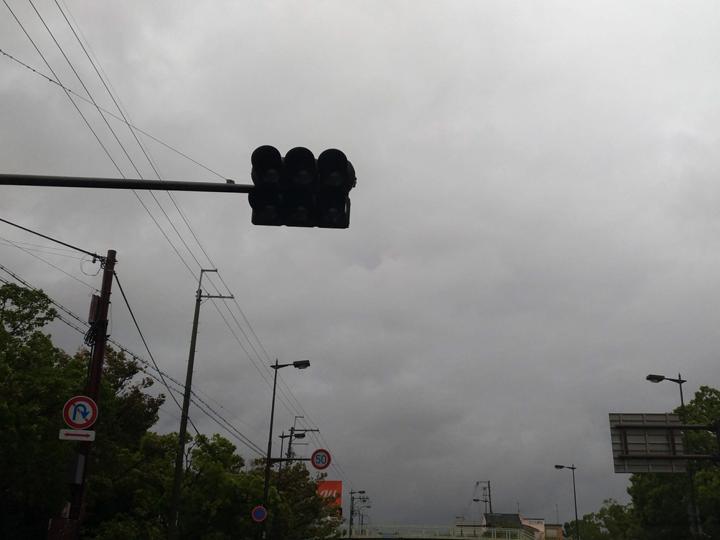 停電で消えた信号