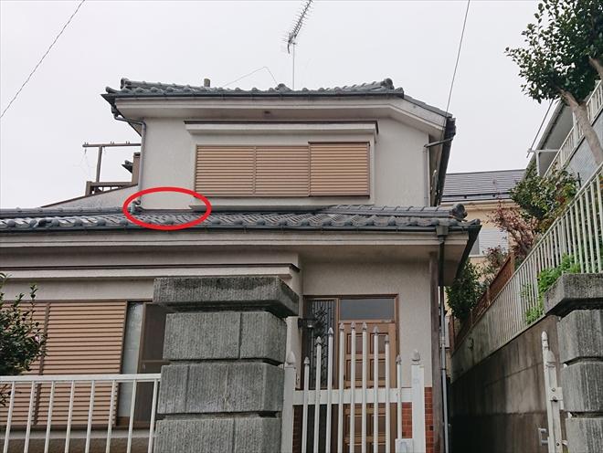 下屋根がある場合雨漏りしている時には外壁と屋根がぶつかる所に注目