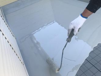 川崎市宮前区馬絹 ウレタン防水工事 ウレタン防水材塗布