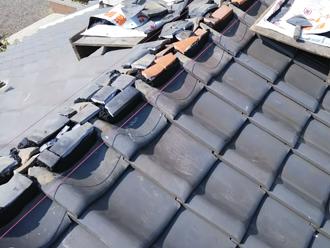 相模原市緑区青山 屋根葺き直し工事 棟を作る