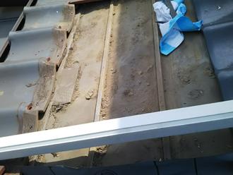相模原市緑区青山 屋根葺き直し工事 瓦取り外し
