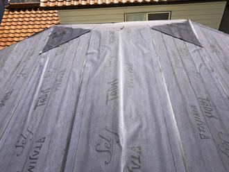 愛甲郡愛川町中津 屋根カバー工法 防水紙設置