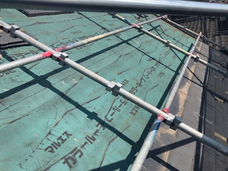 横須賀市坂本町 屋根葺き替え工事 屋根材撤去