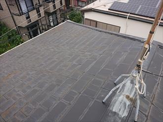 勾配も緩く水はけが悪い屋根の様子