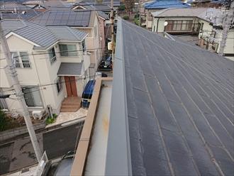 片流れ屋根に使われていたパミール