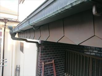 破風板に被せている物も銅製でこだわりが感じられます