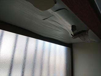 お台所にある出窓から雨漏り