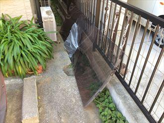 台風19号で破損したカーポートの屋根材