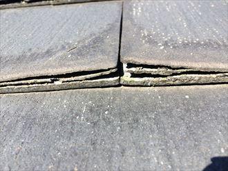 座間市広野台の傷み過ぎたスレート屋根は、塗装では十分な効果が得られない