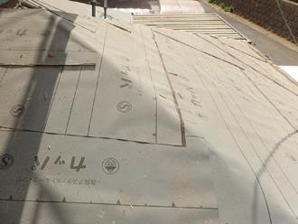 厚木市下荻野 屋根葺き替え工事 防水紙設置