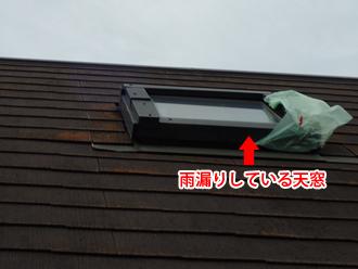 川崎市川崎区川中島 雨漏りしている天窓