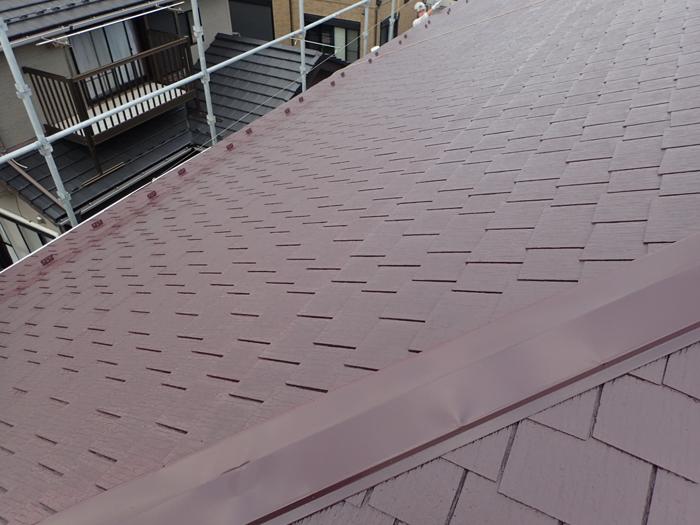 厚木市下荻野 ファインシリコンベストを使った屋根塗装 完了
