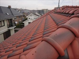 急勾配の屋根はそれだけで調査に足場を要することもあります