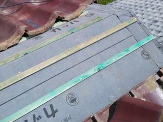 川崎市幸区古市場 屋根葺き替え工事 防水紙設置