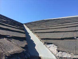 葉山町下山口のスレート屋根点検は、傷み過ぎて寿命を迎えておりました
