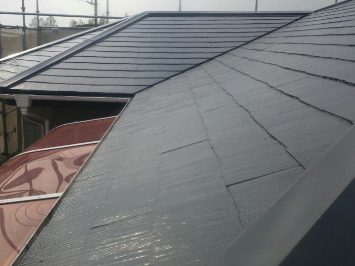 平塚市小鍋島 屋根塗装 完工