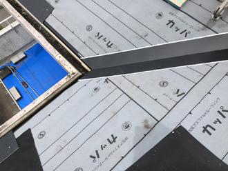 伊勢原市高森 屋根の部分葺き替え工事 防水紙設置
