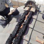 伊勢原市田中にて漆喰が剥がれた棟の取り直し工事を南蛮漆喰シルガードを使って実施