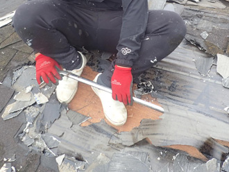寒川町 屋根葺き替え工事 スレート撤去