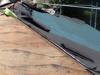 寒川町 屋根葺き替え工事 ルーフィング設置