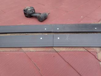平塚市北金目 樹脂製貫板タフモック設置
