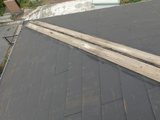 平塚市田村 台風で飛散した棟板金