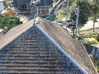 ドローンを使用してスレート屋根の調査