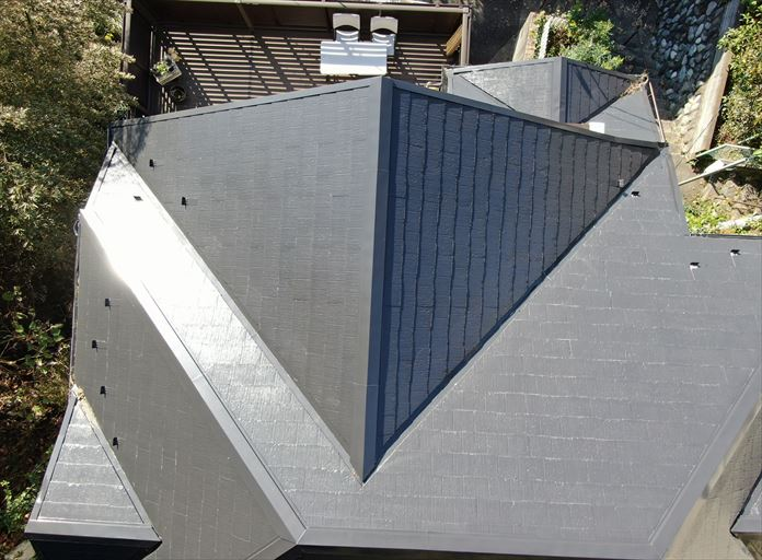 海老名市社家で屋根が破損