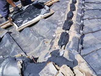 秦野市名古木 棟取り直し工事 漆喰