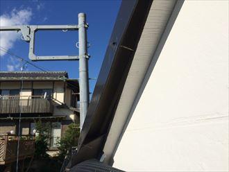 海老名市社家で屋根のケラバが破損