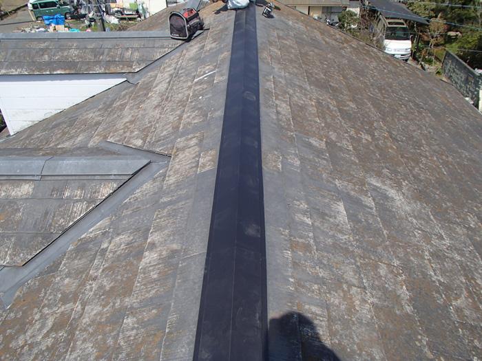 愛甲郡愛川町角田 台風で飛散した棟板金の交換 完了
