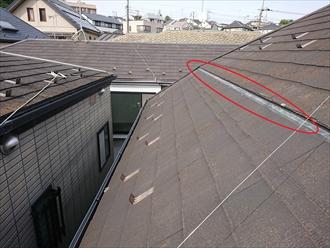 茅ヶ崎市浜竹にて訪問業者に指摘された棟板金の釘浮き、飛散や雨漏り等の被災が発生する前に交換工事を行いましょう