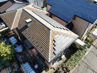 スレート屋根の不具合を調査