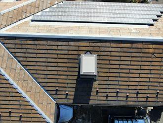 スレート屋根の状態をドローンで確認