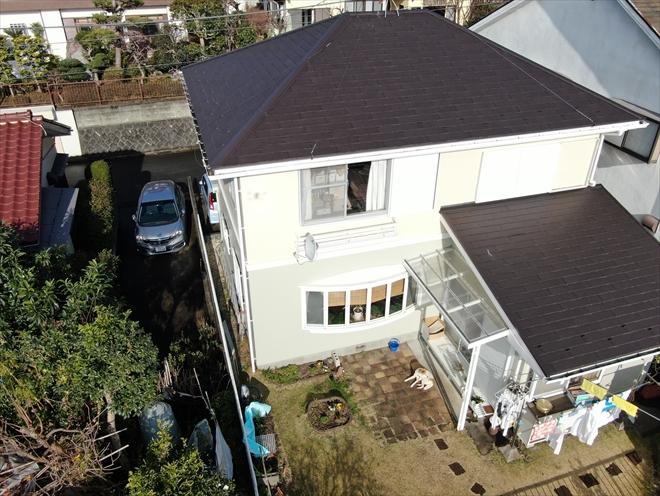 施工後約一年の屋根の様子
