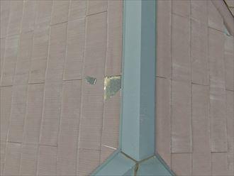 ドローンを使用してスレート屋根の破損部を発見