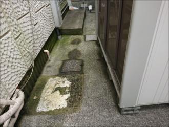 藤沢市石川にて土間に苔が多く発生した原因を調べる為折板屋根の調査を行いました