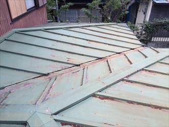 板金屋根の錆