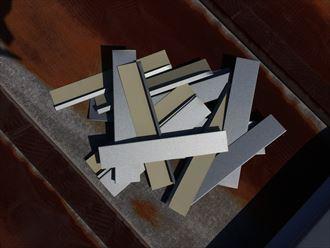 面戸用に加工したガルバリウム鋼板