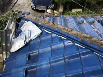 瓦屋根漆喰劣化