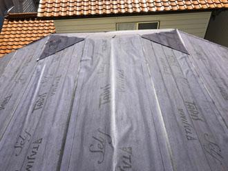 防水紙(ルーフィング)敷設