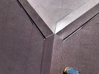 屋根カバー工法 棟板金設置で工事完了