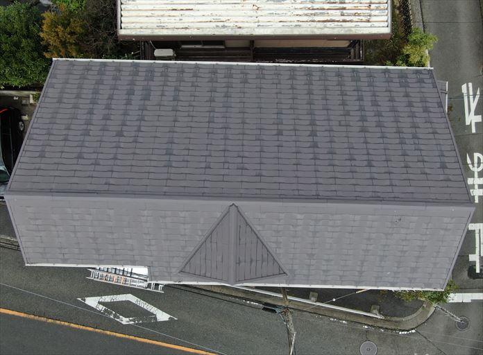 3階建ての屋根はドローン調査が有効的
