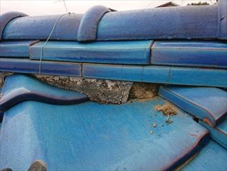 瓦屋根に使用されている漆喰はメンテナンスが必要